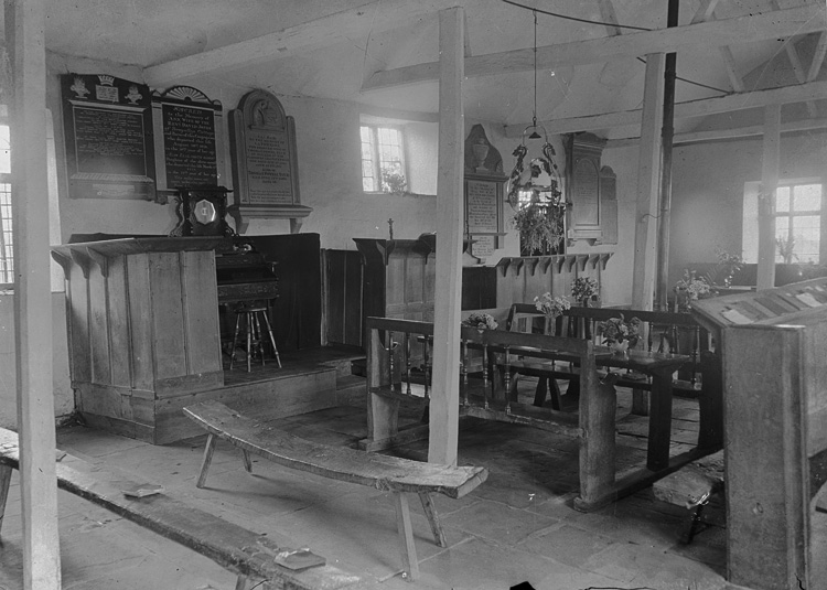 [Interior of Maesyronnen chapel, Glasbury]