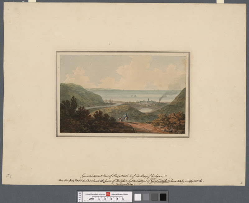 General distant view of Aberystwith & of the bay of Cardigan