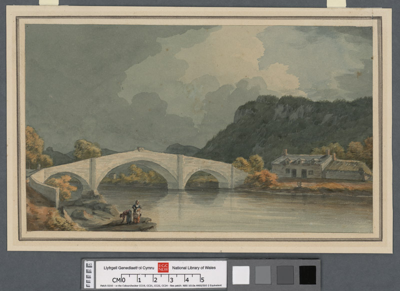 Llanrwst bridge over the River Conway - the work on Inigo Jones