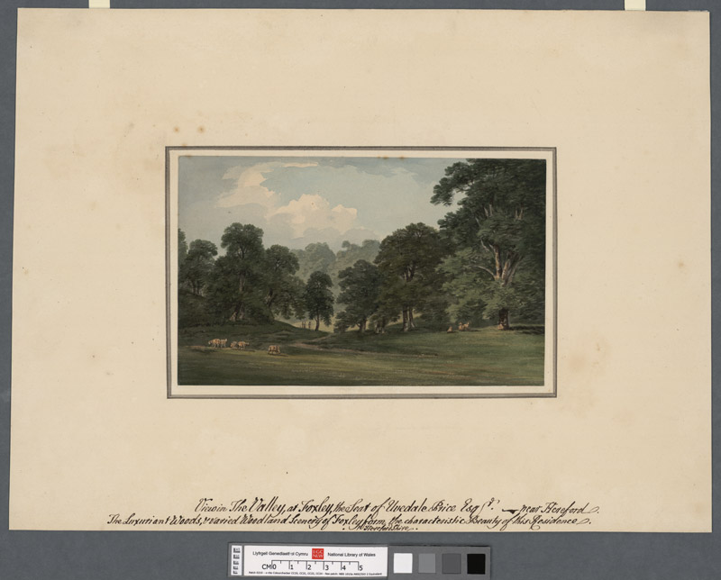 View in the Valley at Foxley the seat of Uvedale Price, Esq. near Hereford