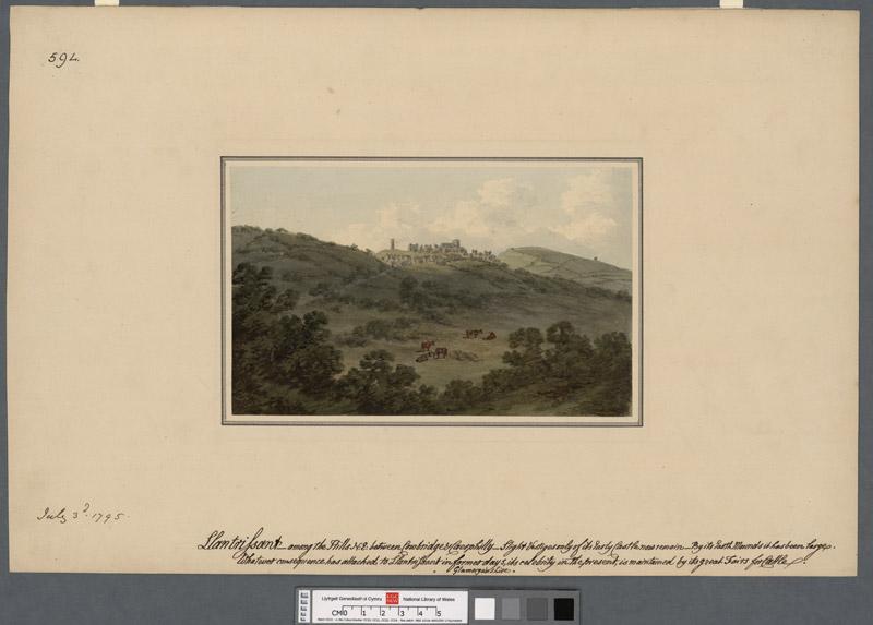 Llantrissant among the hills N.E. between Cowbridge & Caerphilly
