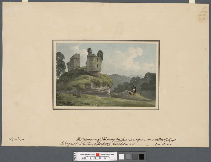 The slight remains of Llandovery Castle