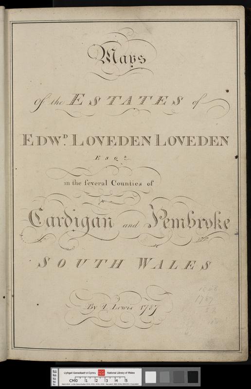Maps of the estate of Edward Loveden Loveden Esqr
