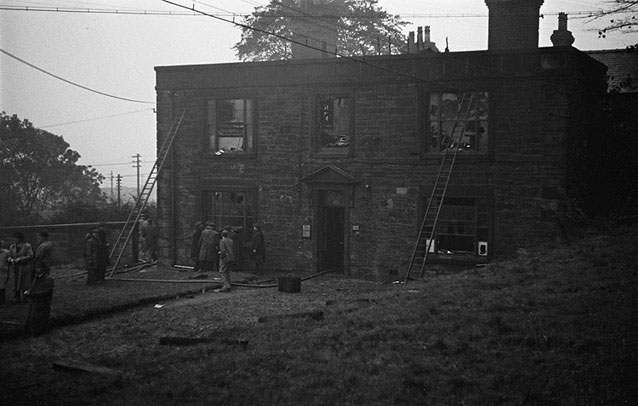 [Brymbo Steel Company office after a fire]