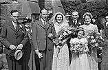 [Hubert-Evans wedding at the English Calvinistic Methodist Church, Newtown]
