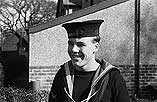 [Presentation to Telegraphist Luther Meek, Llanidloes hero serving aboard HMS Ajax]