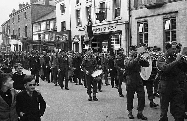 [British Legion procession at Newtown]
