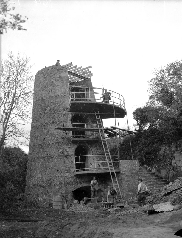 [A lime kiln being converted into a house at Benllech]