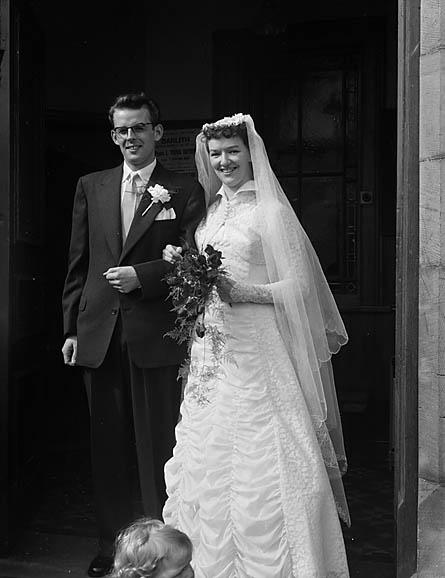 [Wedding of Olwen Phillips to Gilmore Jones at Seion Chapel, Glyn Ceiriog]