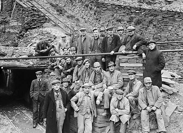 [The Quarrymen of Aberllefenni Quarry]