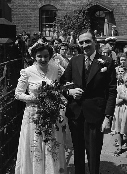 [Wedding of Irene Schofield and Geoffrey Cope at Beatrice Street Methodist Church, Oswestry]