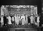 """[A performance of """"Dick Whittington"""" at Chirk]"""
