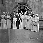 [Wedding of Margaret Muriel Lewis, St Martin's, to Neville Chambers Roberts, Tywyn]