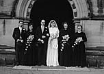 [Wedding of John Hounslow, Tingewick, to Gwendoline Jones, West Felton, at Oswestry Parish Church]