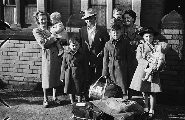 [The McGrath Family emigrating to Canada from Wrexham, 1948]