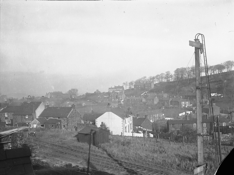 [The view from the back bedroom window of the Old Vicarage, Brymbo]