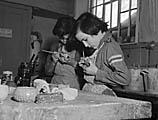 [A children's handicrafts class]