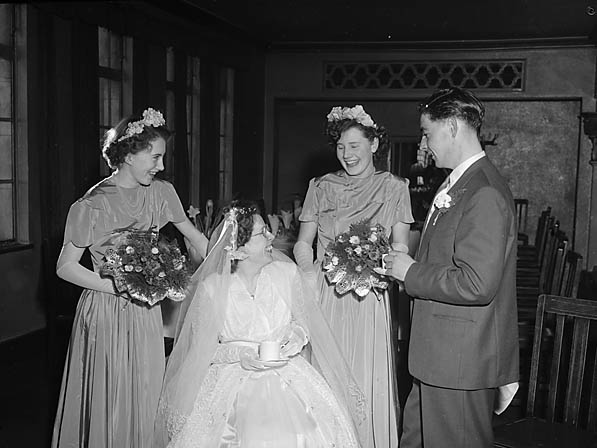 [Wedding of Miss C M Tinkler and Mr J R Haddocks]