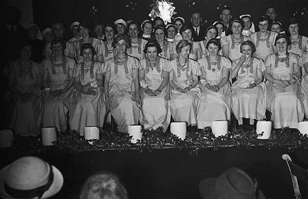 [Forden Poor Law Institution Christmas Party, 1939]