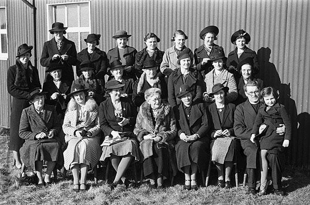 [Abermule Women's Voluntary Service contribution to war effort]
