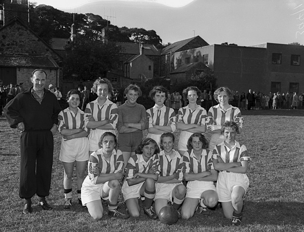 [Women's football match Menai Bridge against Penrhos]