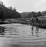 [Fishery on the River Ceiriog at Chirk]