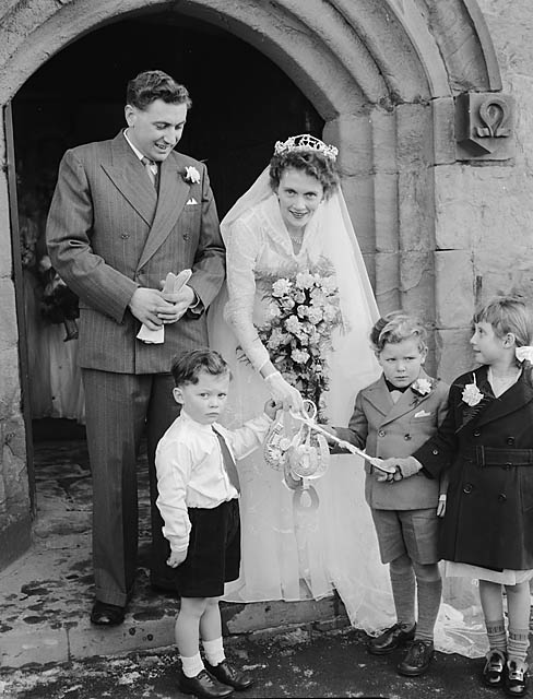 [Wedding of Cynthia Ellis and Graham Walters at St Martins parish church]
