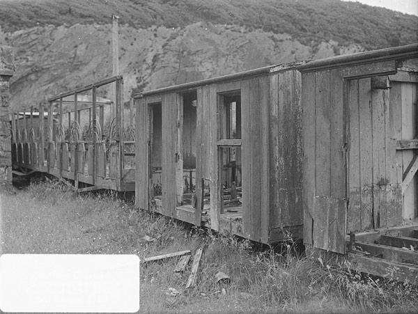 [Ffestiniog Railway - desolation at Porthmadog c 1952]