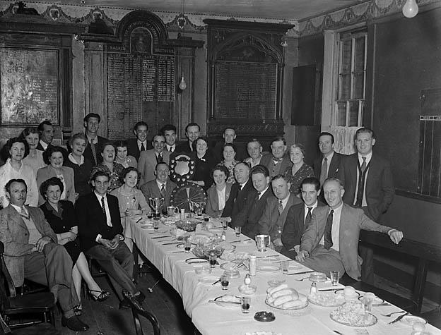 [Darts and Dominoes Society Annual Dinner at the Albert Hotel, Shrewsbury]