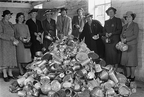 [Collection of scrap aluminium in Welshpool by the Women's Voluntary Service]
