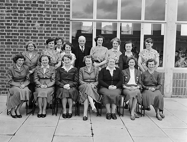 [Staff members at Oswestry Infant School, Middleton Road, Oswestry]