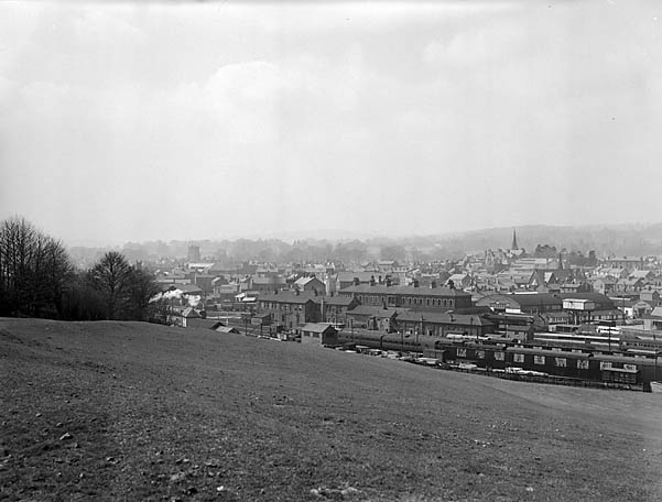 [View of Oswestry from Shelf Bank]