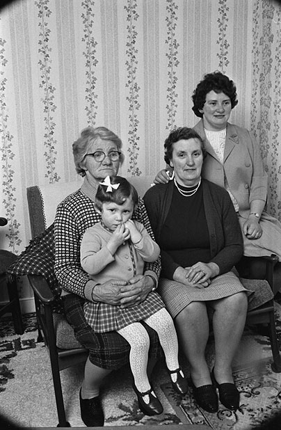 Family portrait showing four generations of women