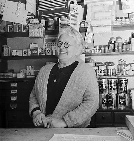 [Half a century of service at the village shop, Llanelltyd]