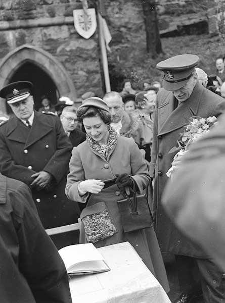 [Princess Margaret at Conwy]