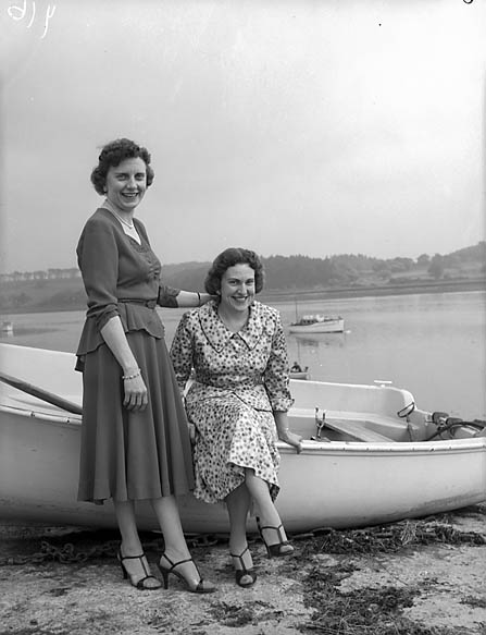 [Two sisters from Chicago visiting Wales]