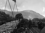 [Aftermath of the Penmaenmawr train crash (Sept 1950)]