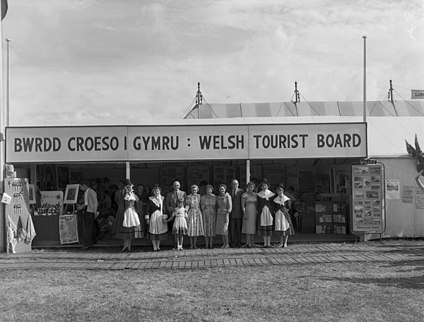 [Welsh Tourist Board stand at the Caernarfon National Eisteddfod]