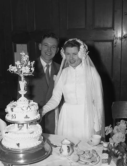 [Wedding of Norah Jones and Gerald White at Chirk Parish Church]