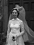 [Wedding of Phyllis Roberts, Pendref, Llanfyllin, to Roy Evans, Oswestry, at Llanfyllin]