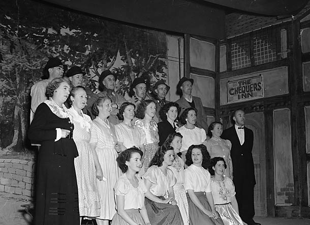 "[Production of ""The Quaker Girl"" at the Town Hall Llangollen]"