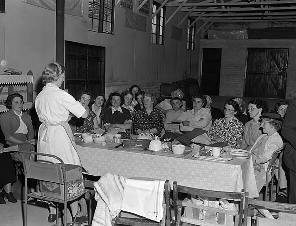 [Dinas Mawddwy Women's Institute Cookery demonstration]