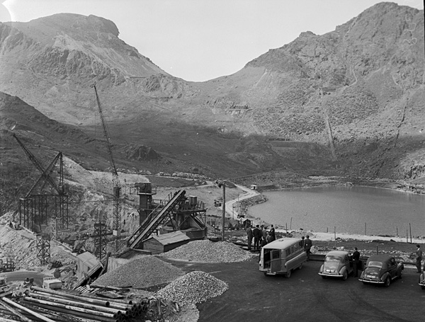 [Lord Brecon's visit with the Tanygrisiau and Trawsfynydd water schemes]