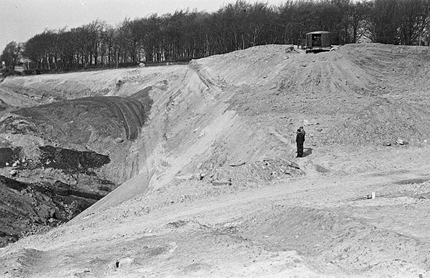 [Opencast mine landscape at Brymbo]