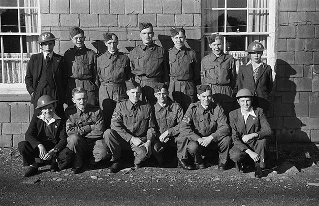 [Llanidloes Boys' Club members who volunteered for National Service]
