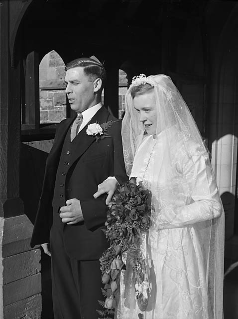 [Wedding of Dorothy Davies and Albert Froar at Llandysilio]