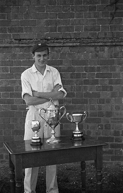 [H.H. Carr who won three cups in the Welshpool County School sports]