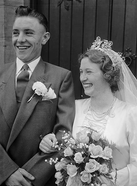[Wedding of Sheila Watkin to Eddie Lyndon at Preeshenlle Congregational Church]