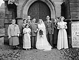 [Wedding of Ethel James and Claud Oliver West at Holy Trinity Church, Shrewsbury]
