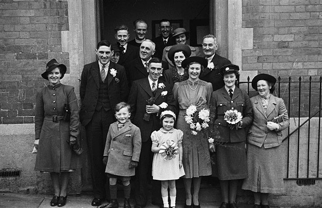 [Wedding of Florence Ellen Bowen and Griffith Williams at Welshpool Presbyterian Church]